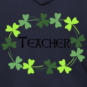 Teacher Shamrock Oval Zip Hoodies/Jackets - Men's Zip Hoodie