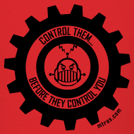 Design ~ MTRAS Control The Robots Black Tshirt