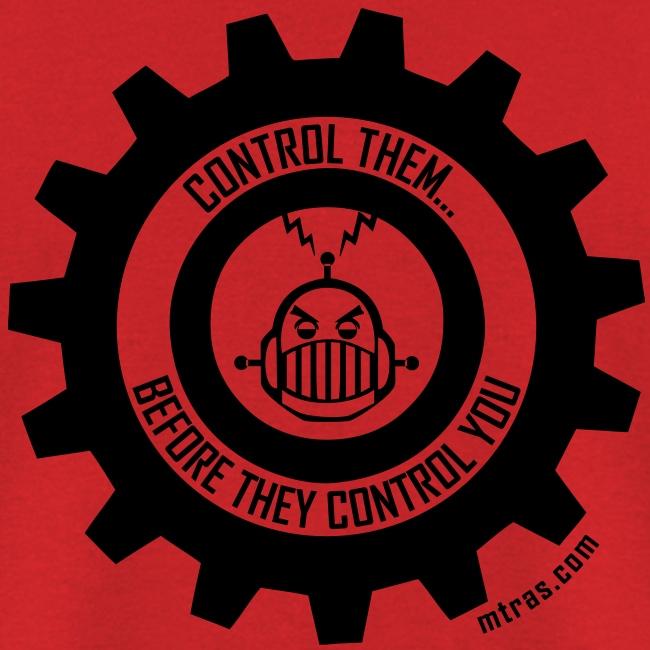 MTRAS Control The Robots Black Tshirt