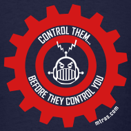 Design ~ MTRAS Control The Robots Red & White Tshirt