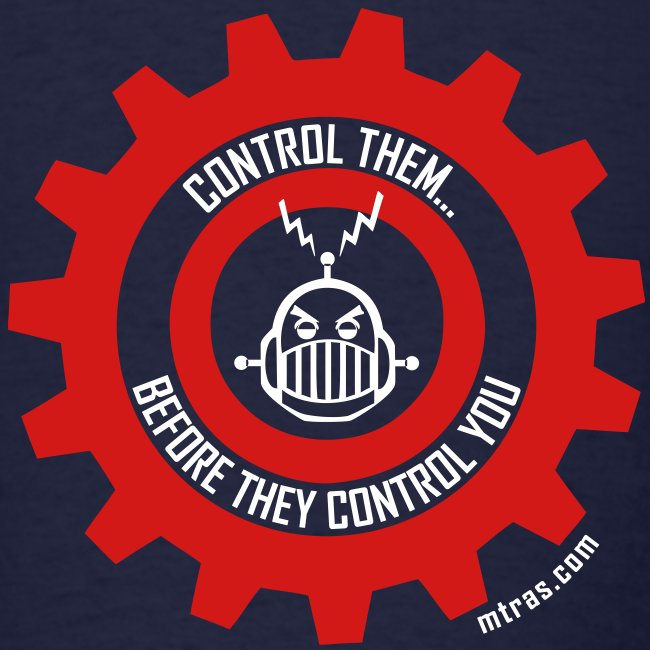 MTRAS Control The Robots Red & White Tshirt