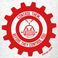 Design ~ MTRAS Control The Robots Red Tshirt