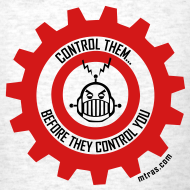 Design ~ MTRAS Control The Robots Red & Black Tshirt