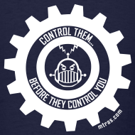 Design ~ MTRAS Control The Robots White Tshirt