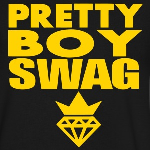 SWAG PRETTY GUY T-Shirts - Men's V-Neck T-Shirt by Canvas