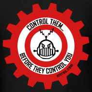 Design ~ MTRAS Control The Robots Black, Red & White Tshirt