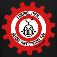 Design ~ MTRAS Control The Robots Black, Red & White - Sweatshirt