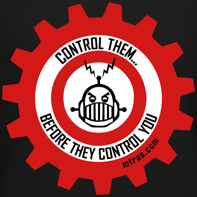 MTRAS Control The Robots Black, Red & White - Sweatshirt
