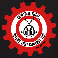 Design ~ MTRAS Control The Robots Black, Red & White - Hoodie