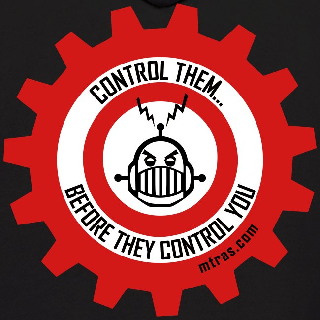 MTRAS Control The Robots Black, Red & White - Hoodie
