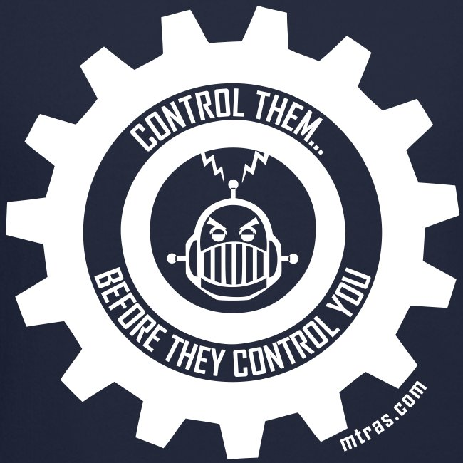 MTRAS Control The Robots White - Sweatshirt