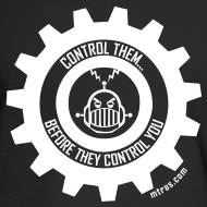 Design ~ MTRAS Control The Robots White - Long Sleeve Hanes