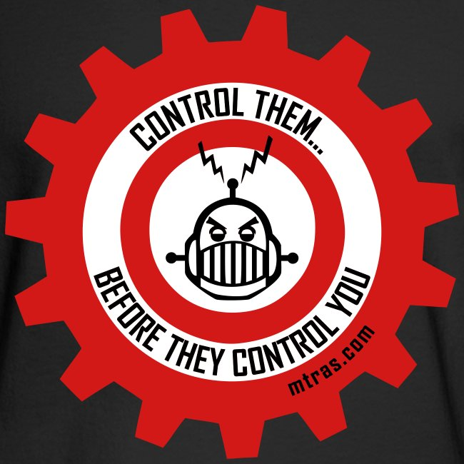 MTRAS Control The Robots Black, Red & White - Long Sleeve Hanes