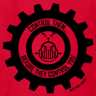 Design ~ MTRAS Control The Robots Black - Kid's Tshirt