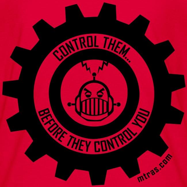 MTRAS Control The Robots Black - Kid's Tshirt