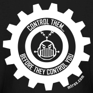 Design ~ MTRAS Control The Robots White - Kid's Long Sleeve Tshirt
