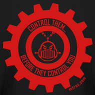 Design ~ MTRAS Control The Robots Red - Kid's Long Sleeve Tshirt