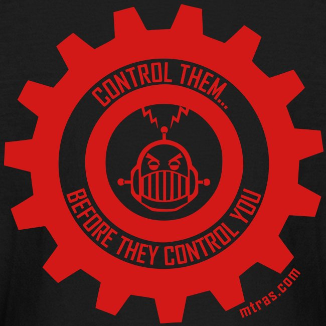 MTRAS Control The Robots Red - Kid's Long Sleeve Tshirt