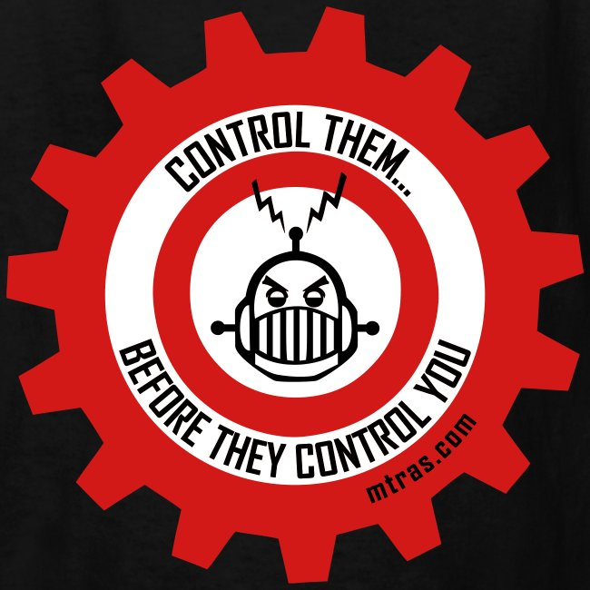 MTRAS Control The Robots Red, White & Black - Kid's Tshirt