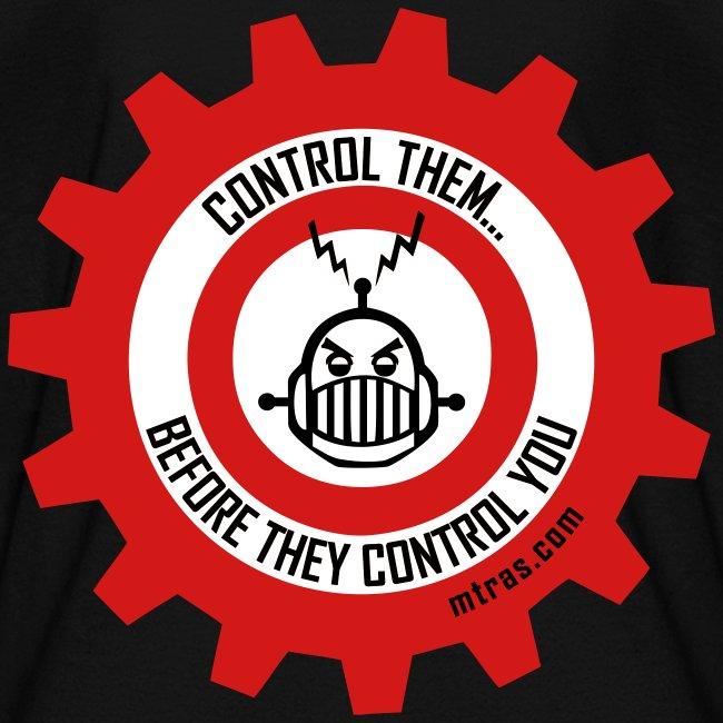 MTRAS Control The Robots Red, White & Black - Kid's Tshirt