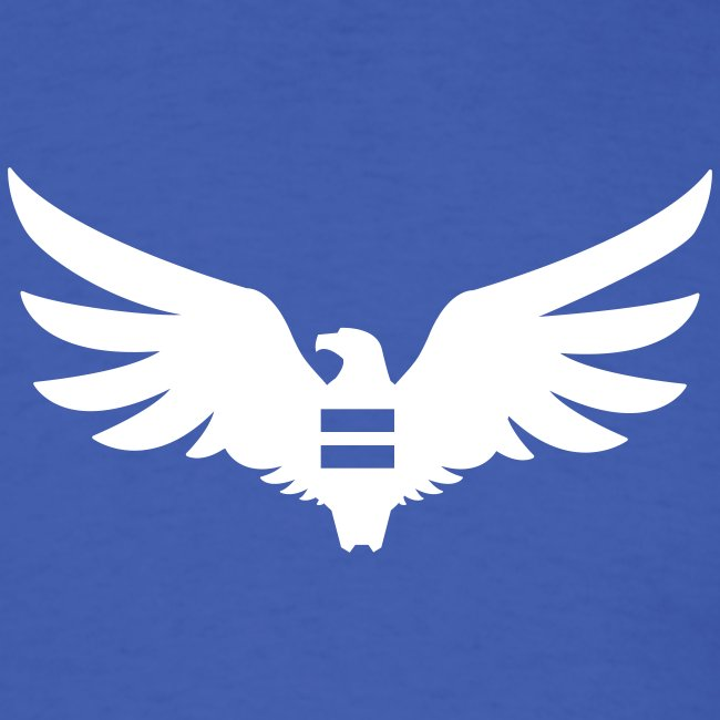 Men's Blue Equal Eagle T-Shirt