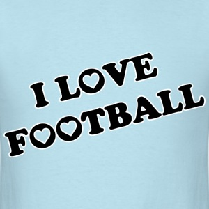 I Love Football. TM  Mens tshirt - Men's T-Shirt
