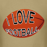 Design ~ I Love Football.  TM  Mens Tee