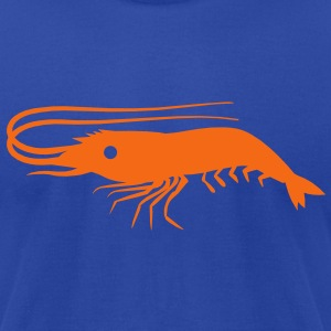 a single detailed prawn shrimp T-Shirts - Men's T-Shirt by American Apparel