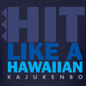 Hit Like A Hawaiian - Blue - Men's T-Shirt