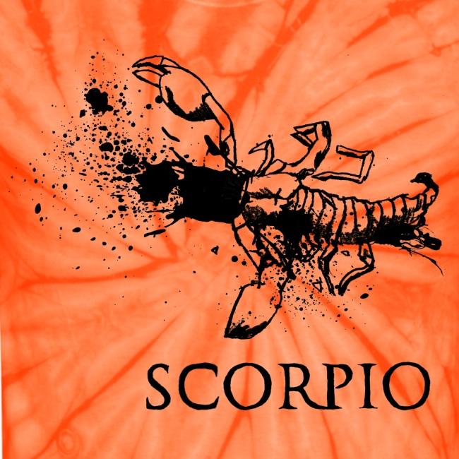 Scorpio Tie Dye T-Shirt (Choose Colour) | Unisex Tie Dye T-Shirt