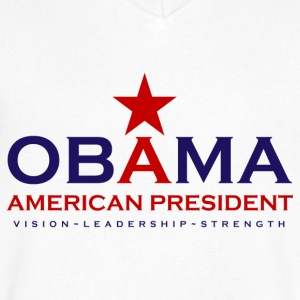 Obama american President - Men's V-Neck T-Shirt by Canvas