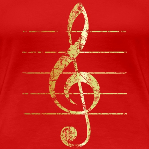 G-Clef - Treble Clef - Sheet Lines (Ancient Gold)