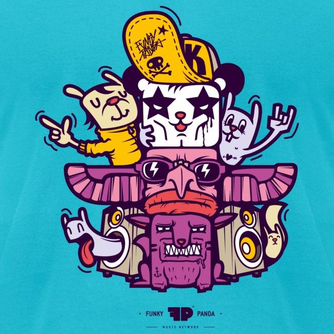 Funky Panda Totem Tee for Men