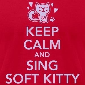 Keep calm and sing soft kitty T-Shirts - Men's T-Shirt by American Apparel
