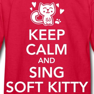 Keep calm and sing soft kitty Kids' Shirts - Kids' Long Sleeve T-Shirt