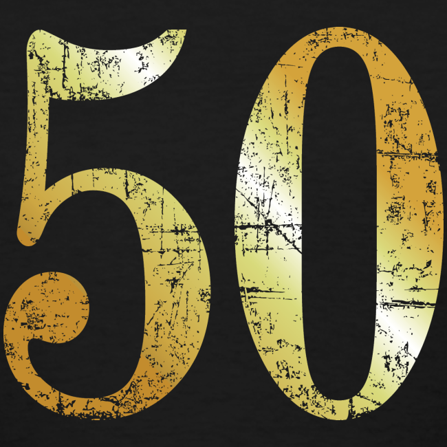 50th Birthday T Shirt Ancient Gold