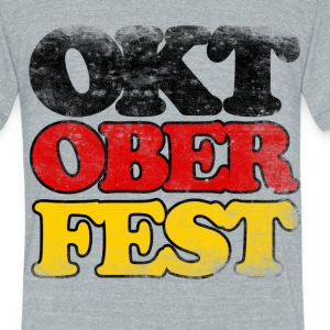 Oktoberfest German - Unisex Tri-Blend T-Shirt by American Apparel