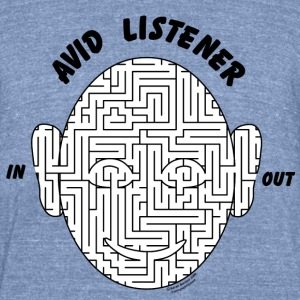 Avid Listener T-Shirts - Unisex Tri-Blend T-Shirt by American Apparel