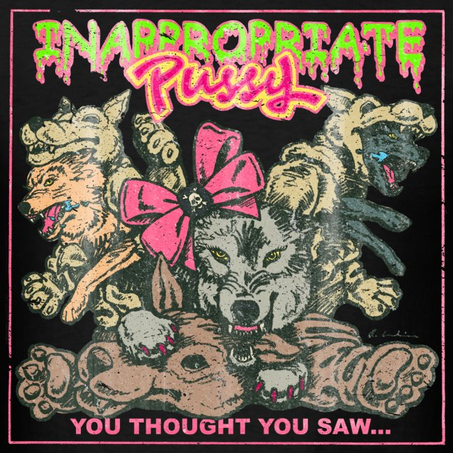 """Inappropriate Pussy """"Vintage"""" Tour T-shirt (Men's)"""