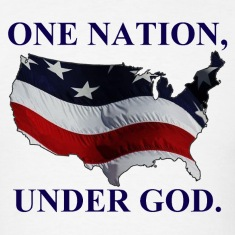 One Nation Under God Navy T-Shirts