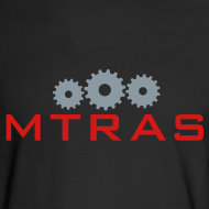 Design ~ MTRAS Sprockets Metallic Silver & Red Long Sleeve Hane's