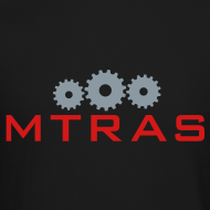 Design ~ MTRAS Sprockets Metallic Silver & Red Sweatshirt
