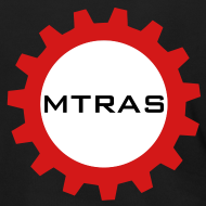 Design ~ MTRAS Sprocket Metallic Silver & Red Zipper Hoodie
