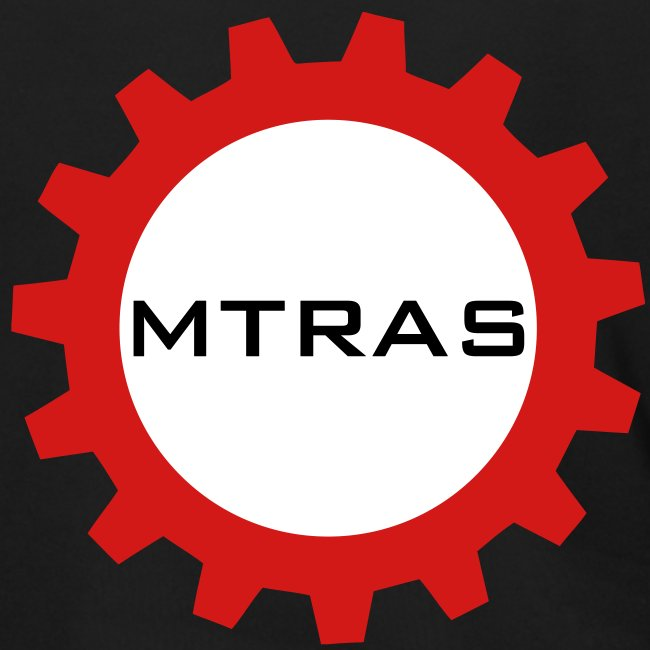 MTRAS Sprocket Metallic Silver & Red Zipper Hoodie