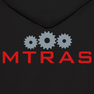 Design ~ MTRAS Sprockets Metallic Silver & Red Hoodie