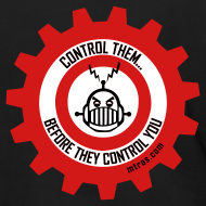 Design ~ MTRAS Control The Robots Metallic Silver & Red Zipper Hoodie