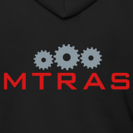 Design ~ MTRAS Sprockets Metallic Silver & Red Zipper Hoodie