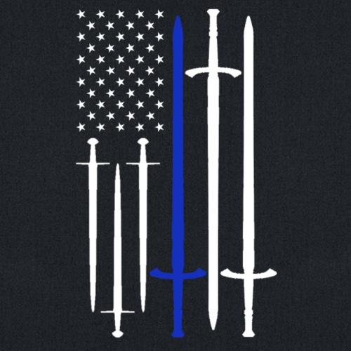 USA Flag w/ Swords- Blue
