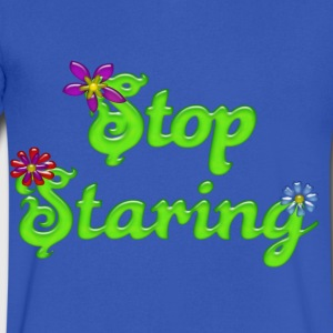 Stop Staring T-Shirts - Men's V-Neck T-Shirt by Canvas