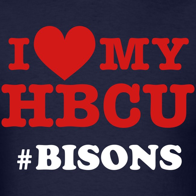 I Love My HBCU with Hashtag - Red White and Blue  [Personalize it]